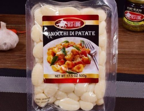 Gnocchi di patate packaging machine thermoforming