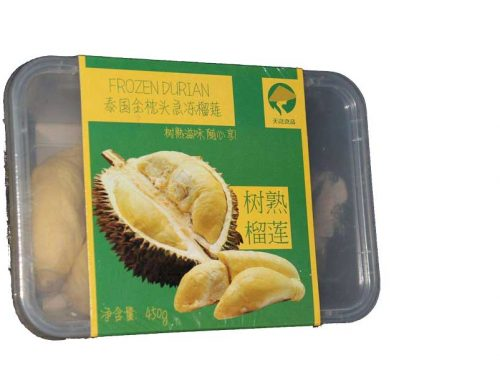 Durian packaging machine modified atmosphere packaging in premade rigid tray