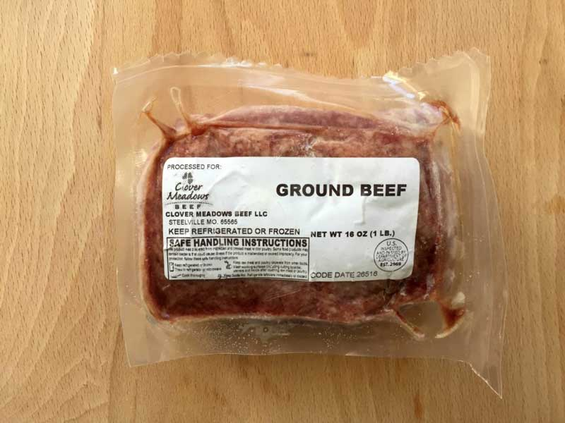 frozen ground beef packaging machine