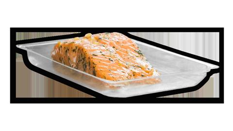 машина для упаковки жареного лосося