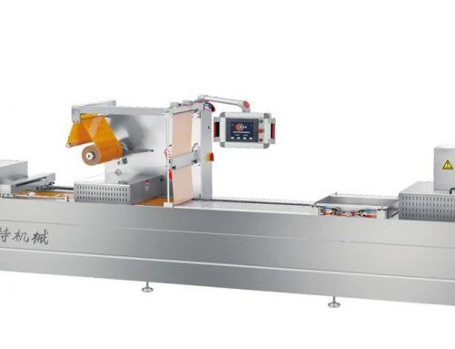 Thermoforming packing machine for dried pork slices