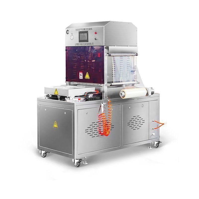 vertical modified atmosphere packaging machine tray sealer