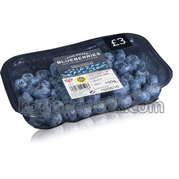 Blueberries MAP packaging machine