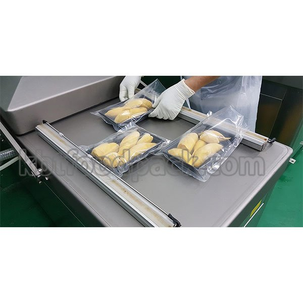 Durian pulp tray vacuum packing machine