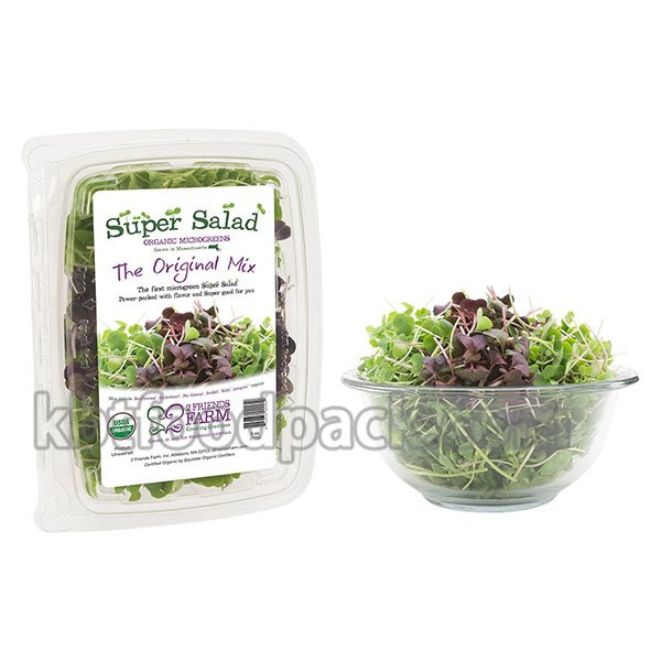 Microgreens salad packaging machine