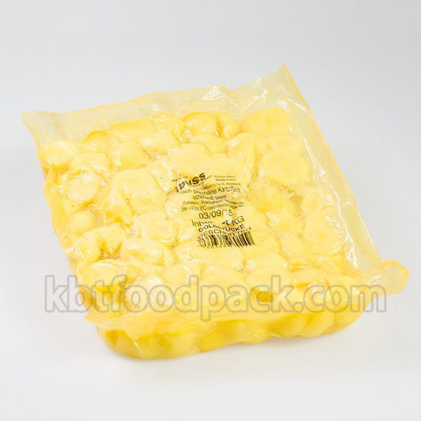 Potato cubes vacuum packaging machine
