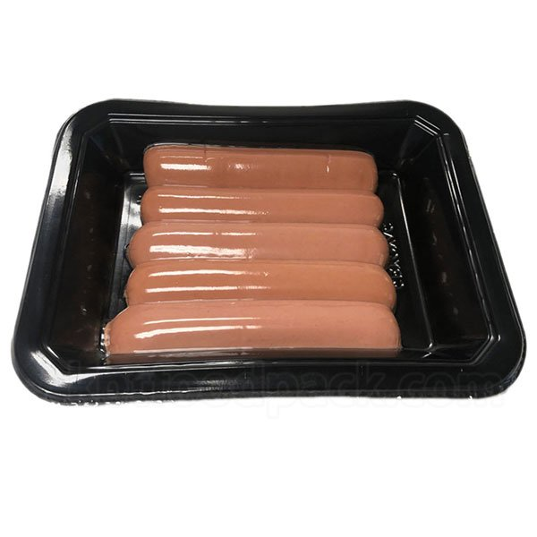 Sausage vacuum skin packaging machine